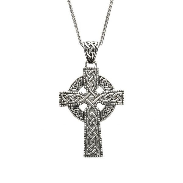 Shanore Large Sterling Silver Celtic Cross